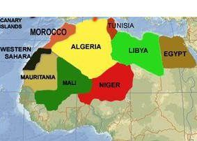 Imazighen or Berbers live in these countries including Burkina Faso not shown on map.